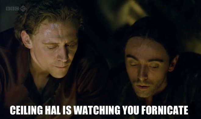 Ceiling Hal is watching you fornicate